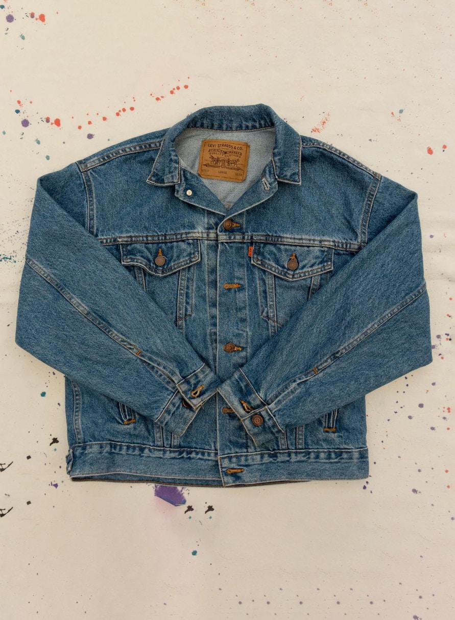 80s Vintage Levi's ORANGE TAB Denim Jacket Size Large _ Etsy