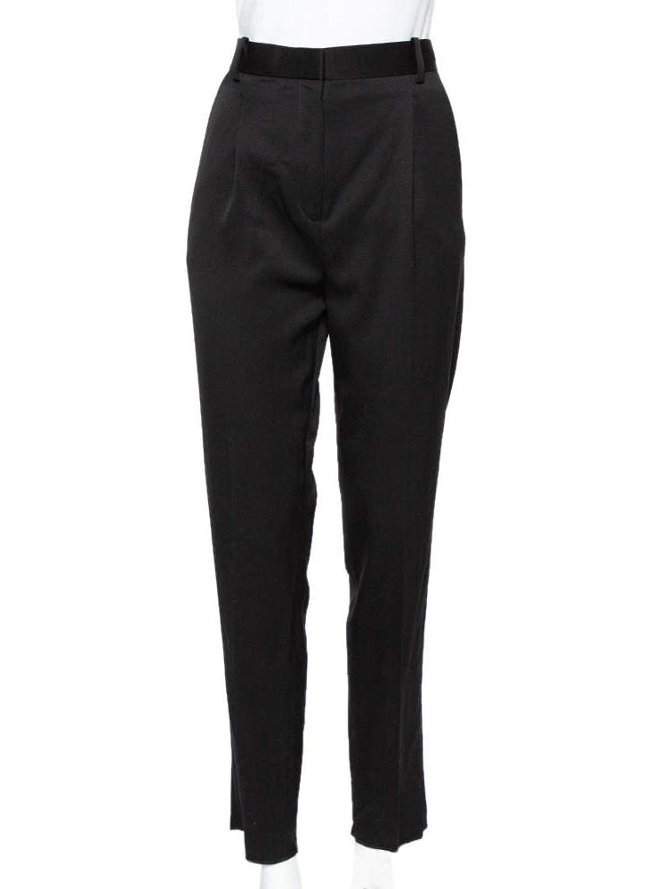 CELINE Celine Black Wool Tapered Leg Pants S