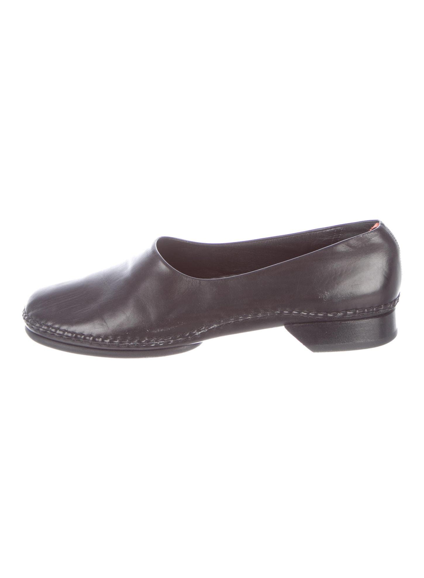 HERMÈS Vintage Leather Loafers Size 8
