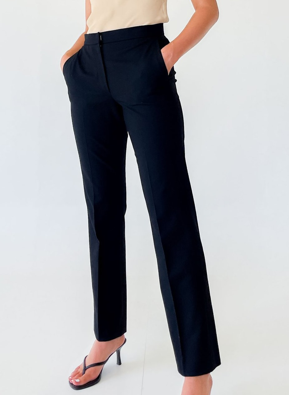 Jil Sander Black Mid Rise Trousers