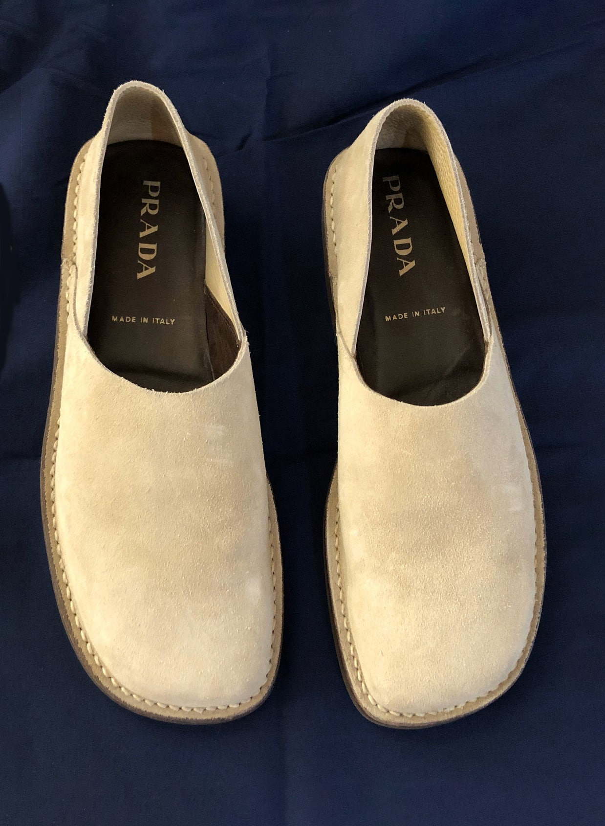 Men's Prada Suede Loafers