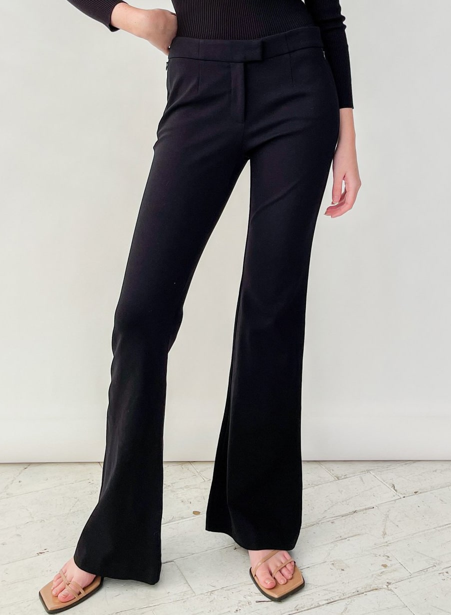 Prada Black Baby Flare Pants
