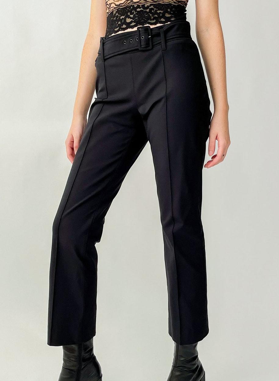 Prada Black Belted Trousers