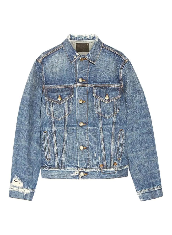 R13 Oversized Distressed Denim Jacket