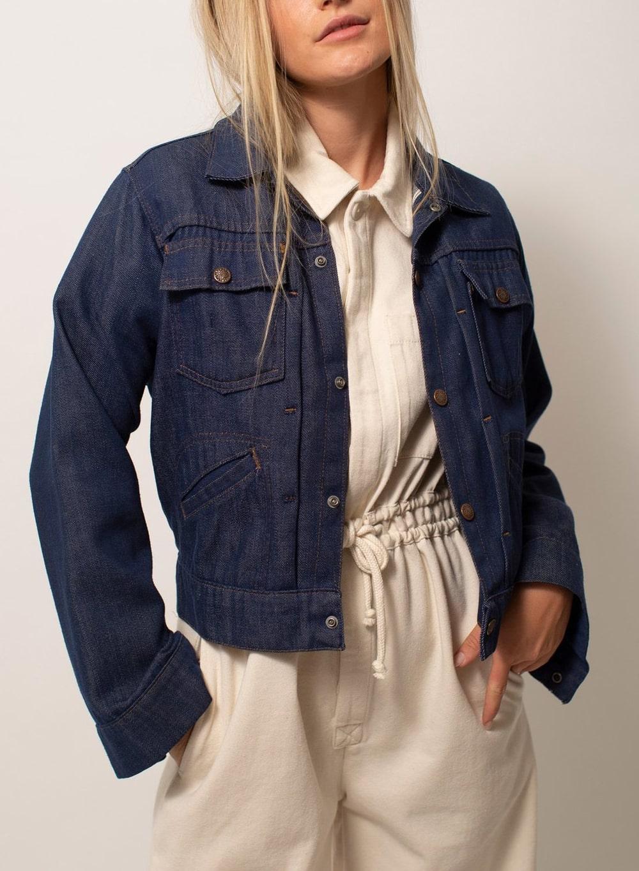 Trucker-Style-Jacket- Blue