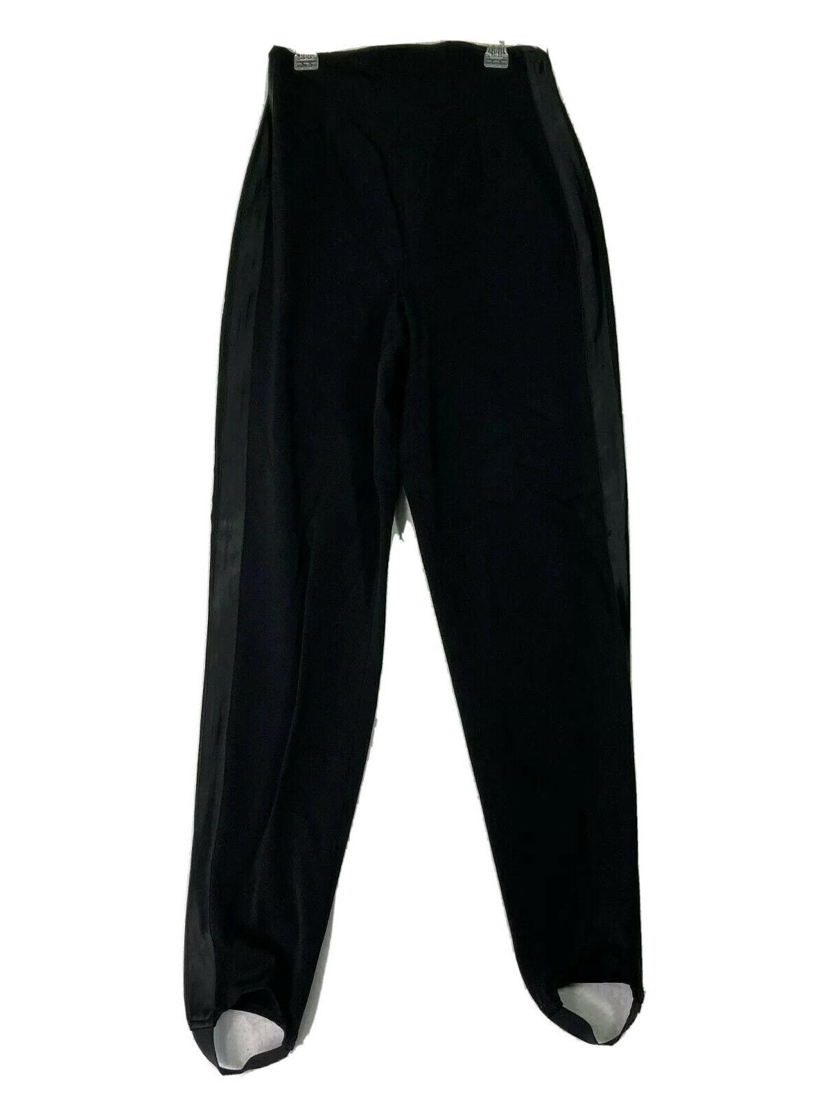 VTG 80s DKNY Tuxedo stirrup Trousers Archive Rare Black Size 10 27x29 High Rise