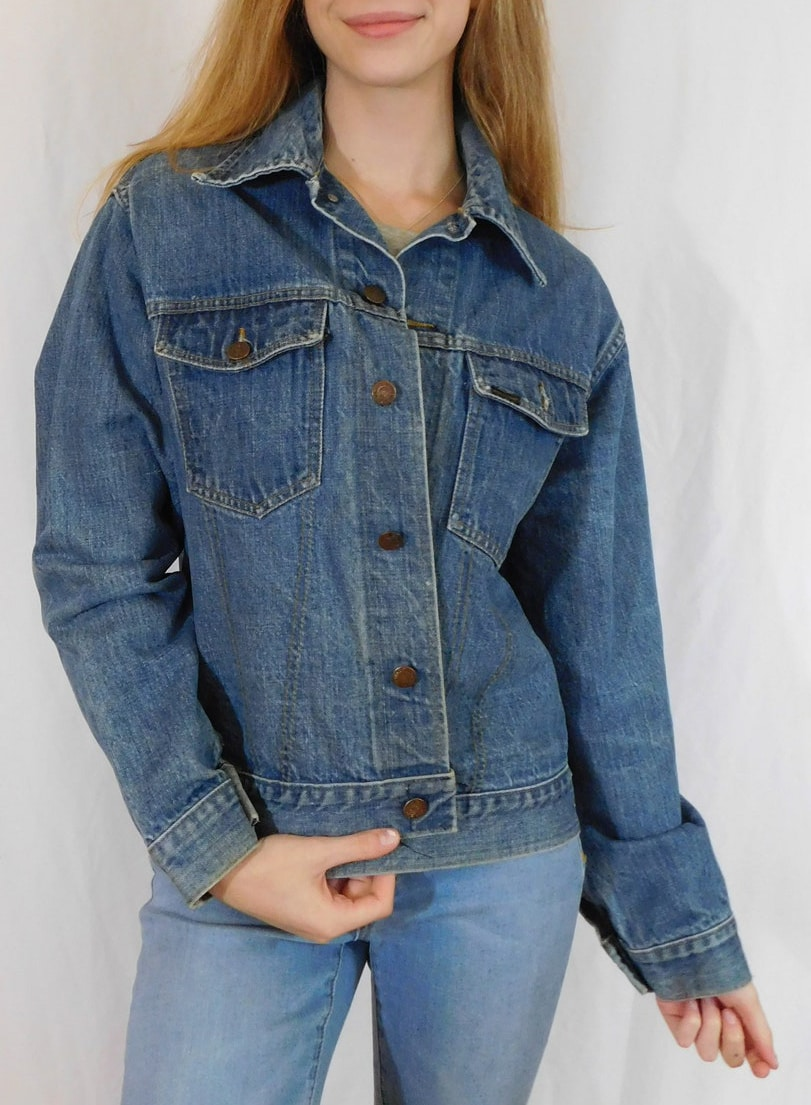 Vintage 60's Roebucks Denim Jacket, Chore Coat, Work Wear