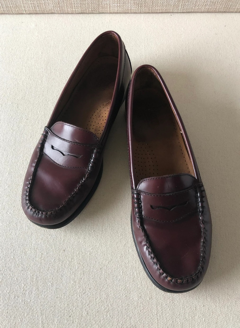 Vintage 80s GH Bass & Co Wayfarer Brown Weejuns Penny Loafers Size 7
