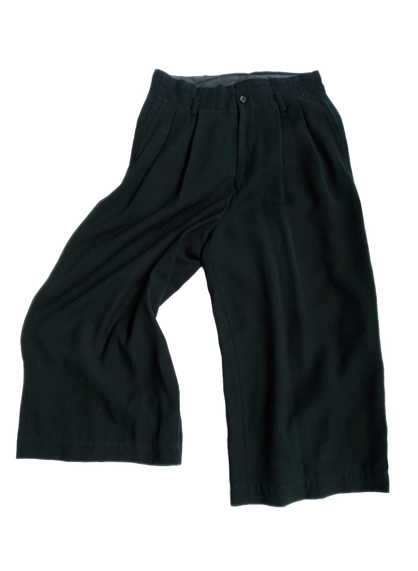 Vintage COMME DES GARCONS Pants Trousers, Wide Leg, Cropped 1990s sz M Black