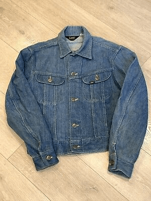 Vintage Lee Denim Trucker Jacket Made in the USA Womens Size Small_Medium