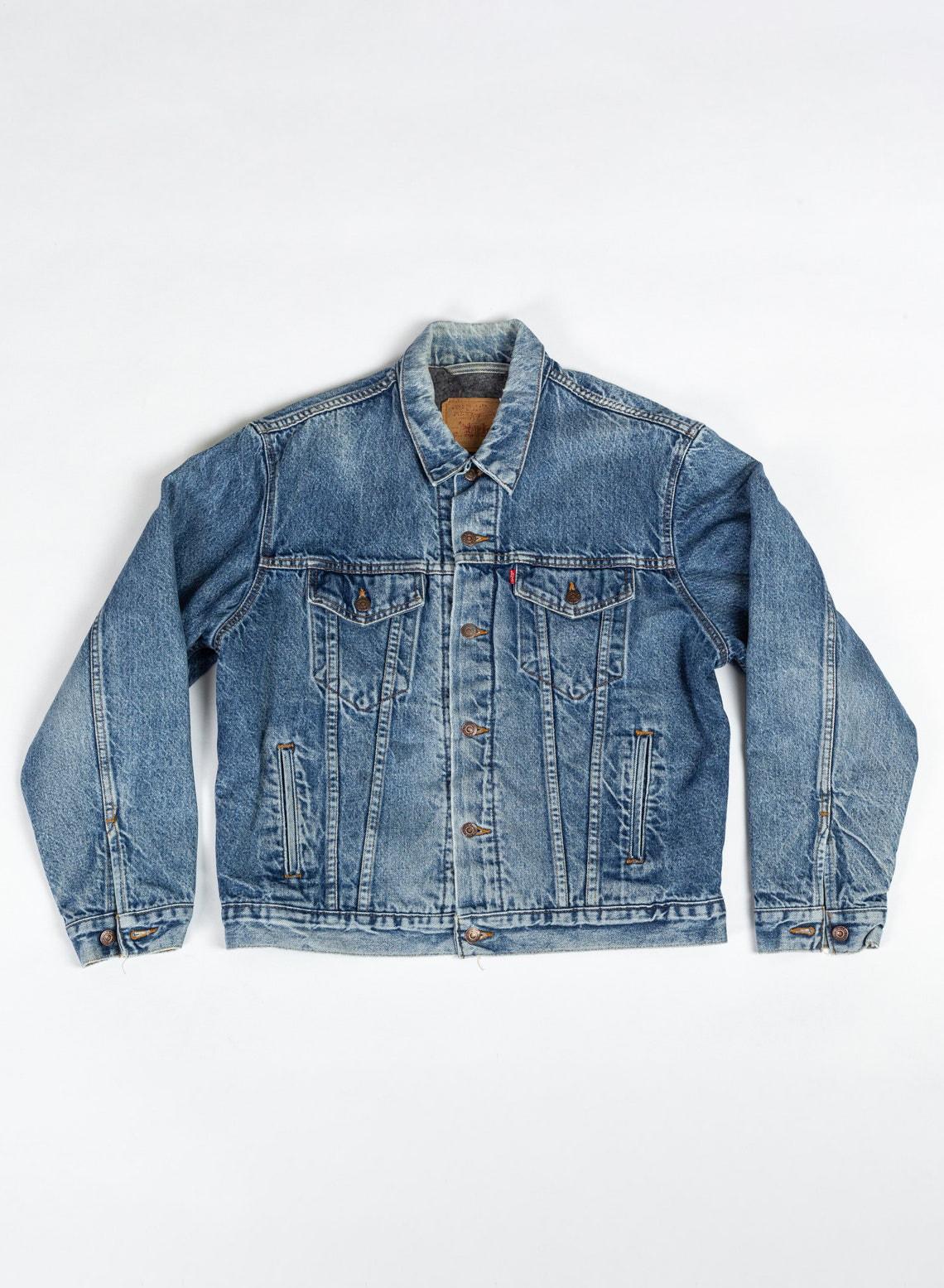 Vintage Levi's Blanket Lined Denim Jacket - 44, Men's Large   80s Unisex Jean Trucker Jacket