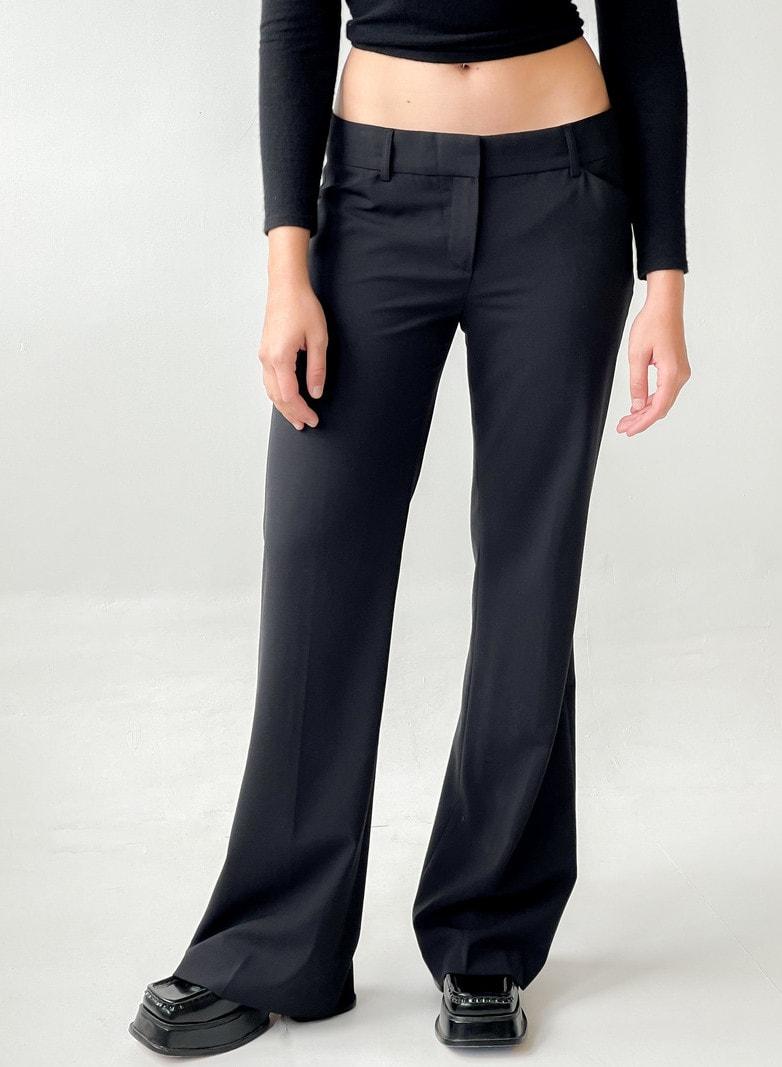 Vintage Low Rise Trousers - BLACK
