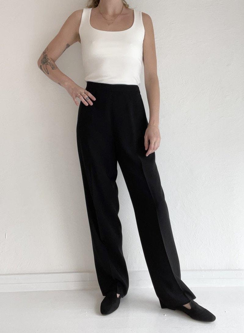 Vintage Tailored Pant - Black