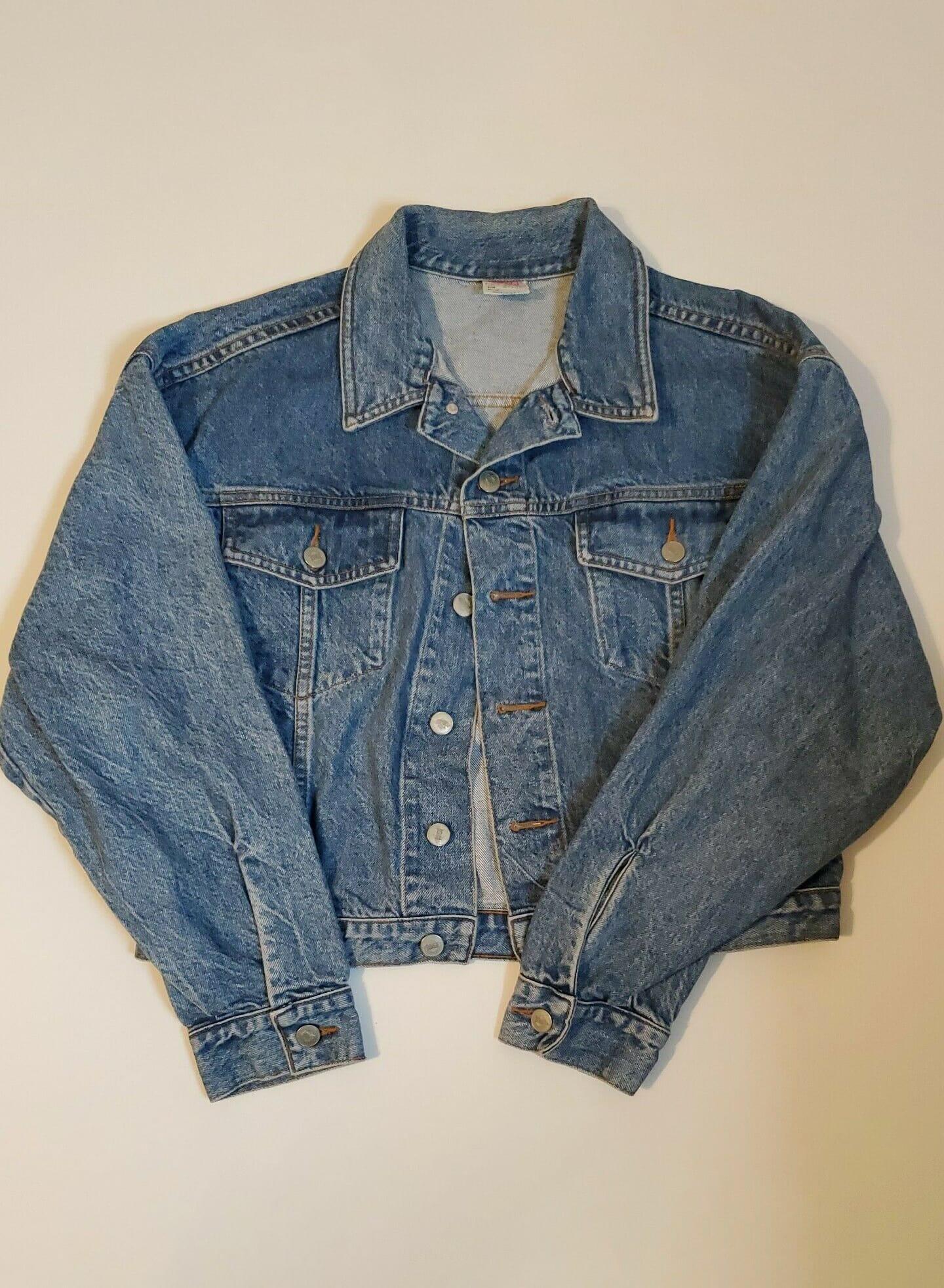 Vintage USA Bongo Medium Wash Denim Button Front Jean Jacket Made in USA - Large