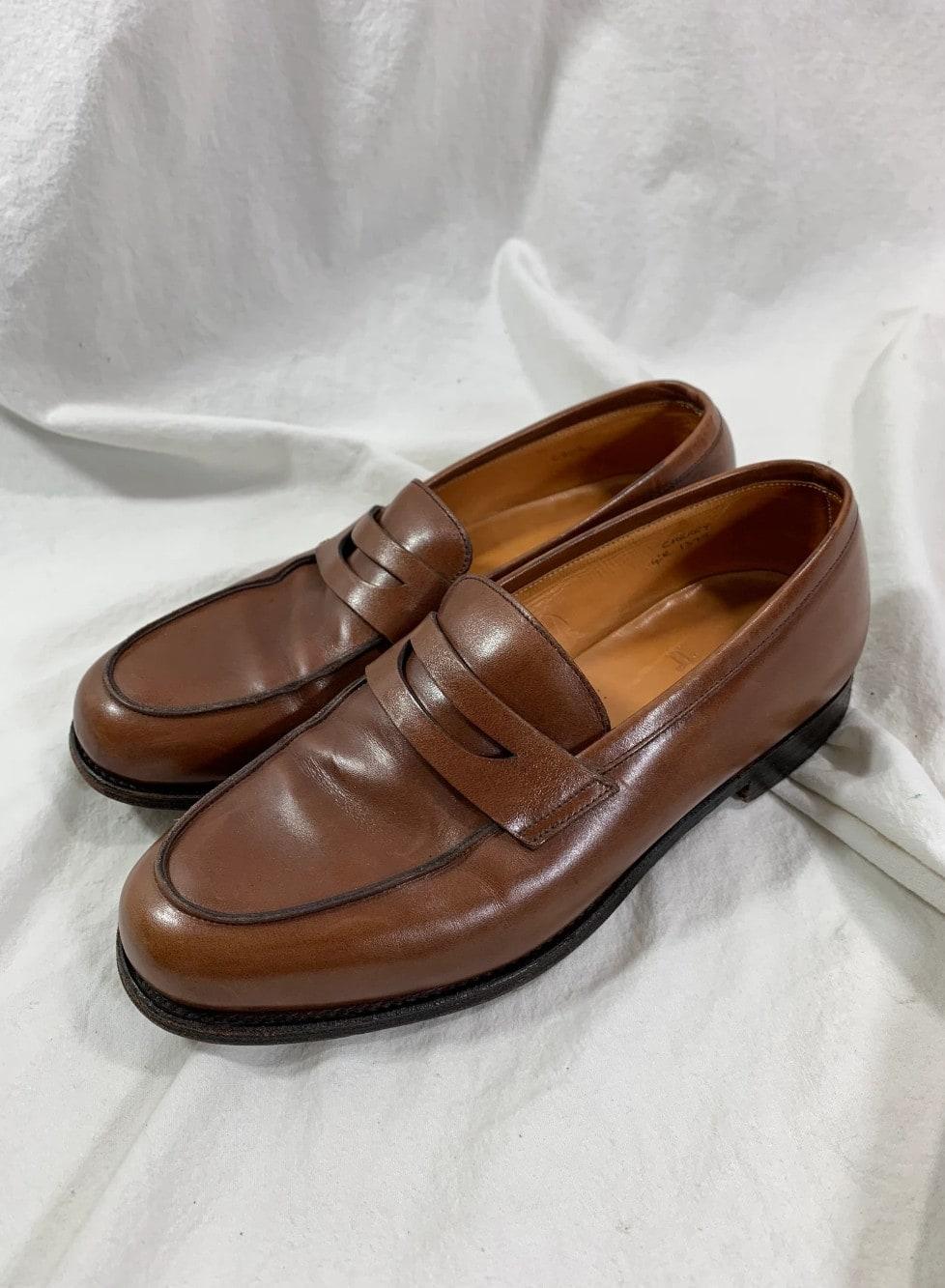 Vintage women JOHN LOBB cherry Rowan leather loafers shoes 4 E 6 US