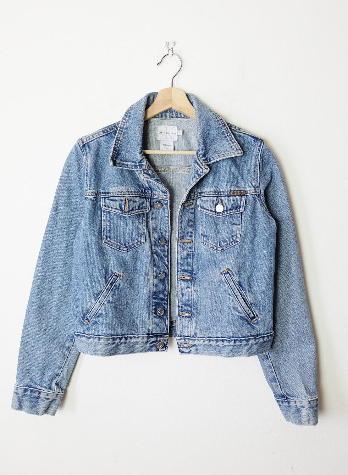 Women's Calvin Klein:CK Jean Jacket:Denim Jacket:Women's M