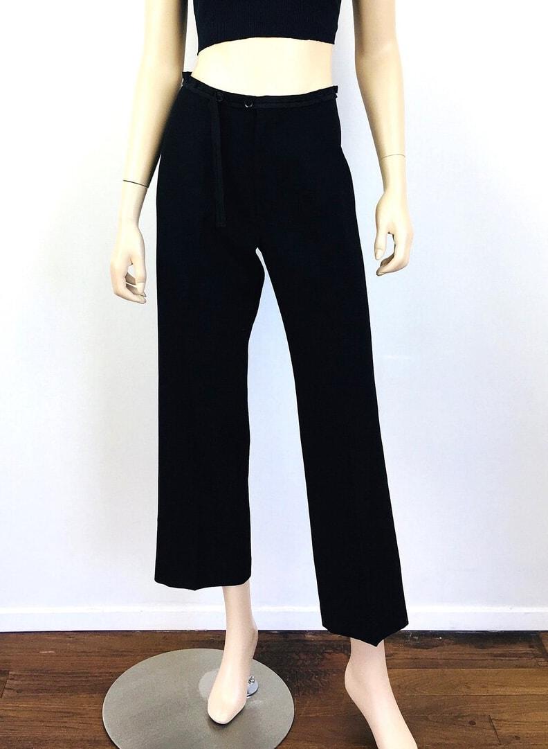 YOHJI YAMAMOTO Minimalist 2000s Black Trousers : Pants
