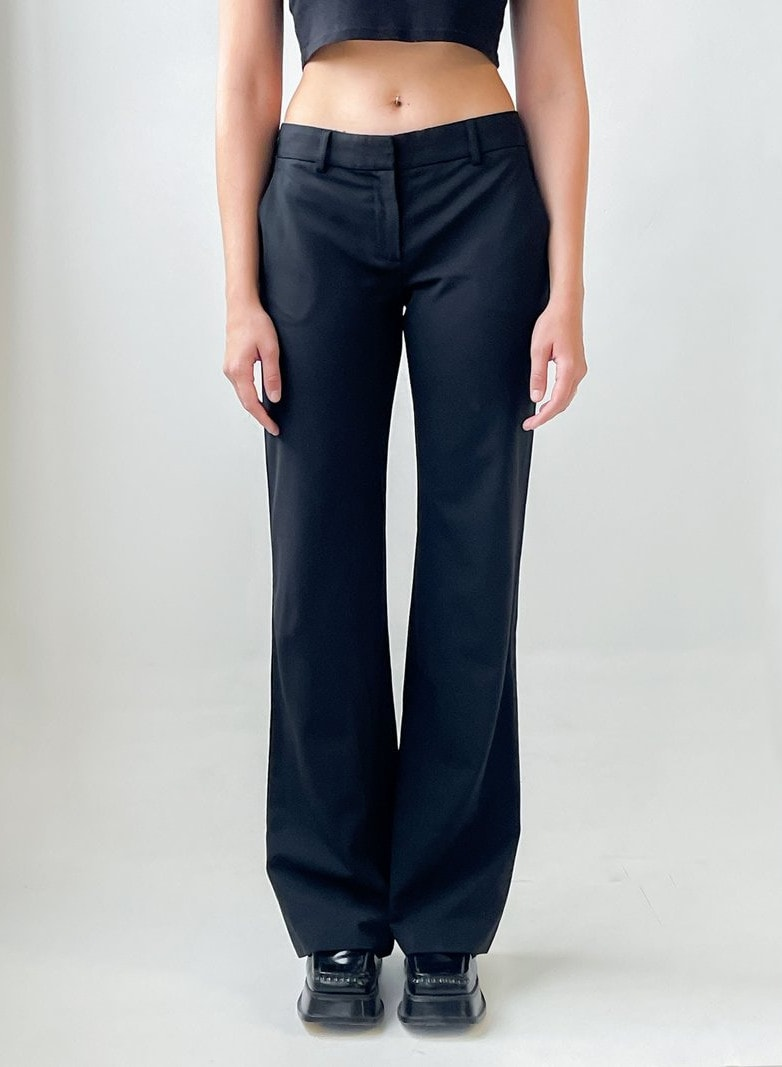 vintage Low Rise Trousers - Black (1)